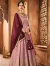 image of Fancy Function Wear Georgette Embroidered Designer Sharara Dress In Pink