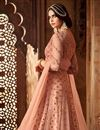 photo of Designer Function Wear Peach Embroidered Long Length Anarkali Salwar Kameez In Net