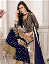 photo of Georgette Function Wear Navy Blue Embroidered Sharara Suit