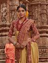 photo of Sangeet Wear Art Silk Fancy Weaving Border Saree In Yellow