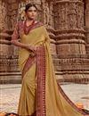image of Sangeet Wear Art Silk Fancy Weaving Border Saree In Yellow