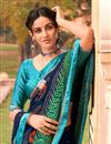 photo of Navy Blue Color Satin Fabric Festive Wear Fancy Bandhej Print Saree