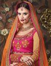 picture of Banarasi Silk Embroidered Designer Lehenga Choli In Beige Color