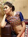 photo of Peach Color Festive Wear Silk Saree with Dhupion Silk Blouse