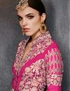 photo of Designer Stylish Pink Color Georgette Suit With Embroidery Work