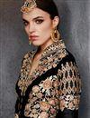 photo of Georgette Embroidered Black Color Designer Salwar Kameez