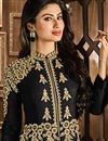 photo of Mouni Roy Black Color Anarkali Salwar Kameez in Georgette Fabric