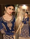 photo of Navy Blue Color Embroidered Anarkali Suit in Georgette Fabric Featuring Mouni Roy