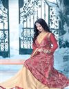 photo of Ayesha Takia Featuring Designer Beige And Pink Color Anarkali Style Embroidered Gown In Silk Fabric