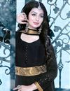 photo of Lavishing Black Color Embroidered Georgette Fabric Long Anarkali Salwar Suit Featuring Ayesha Takia