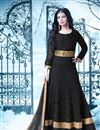 image of Lavishing Black Color Embroidered Georgette Fabric Long Anarkali Salwar Suit Featuring Ayesha Takia