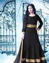 image of Lavishing Black Color Embroidered Georgette Fabric Long Anarkali Salwar Suit Featuring Ayesha Takia