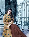 photo of Beautiful Ayesha Takia Featuring Brown And Beige Color Embroidered Party Wear Sharara Top Lehenga In Silk Fabric