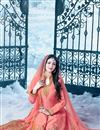 photo of Lavishing Peach Color Embroidered Silk Fabric Long Anarkali Salwar Suit Featuring Ayesha Takia