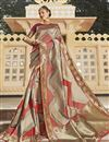 image of Silk Fabric Trendy Function Wear Beige Color Weaving Work Saree