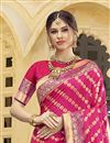 photo of Function Wear Rani Color Trendy Weaving Work Saree In Silk Fabric