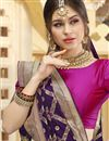 photo of Function Wear Silk Fabric Trendy Purple Color Weaving Work Saree