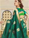 photo of Function Wear Silk Fabric Trendy Weaving Work Saree In Teal Color