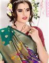 photo of Ready To Ship Festive Wear South Indian Style Green Color Saree In Art Silk Fabric