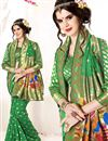 photo of Green Color Festive Wear Party Saree In Art Silk Fabric With Blouse