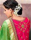 photo of Designer Fancy Silk Green Color Pooja Wear Traditional Saree