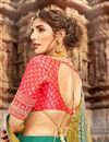 photo of Embroidered Wedding Wear Lehenga Choli In Net Fabric Teal Color