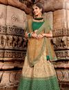 image of Embroidery Work On Cream Color Designer Lehenga In Net Fabric With Blouse