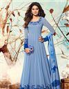 image of Jennifer Winget Blue Embroidery On Georgette Function Wear Anarkali Suit