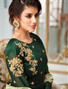 photo of Georgette Floor Length Party Wear Dark Green Anarkali Suit With Embroidered Dupatta