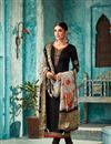 image of Party Wear Straight Cut Georgette Black Suit With Fancy Dupatta