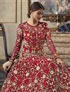 photo of Designer Net Fabric Function Wear Floor Length Anarkali Suit In Red