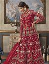 image of Designer Net Fabric Function Wear Floor Length Anarkali Suit In Red
