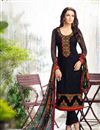 image of Straight Cut Georgette Salwar Kameez In Black Color