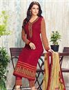 photo of Designer Embroidered Georgette Suit In Dark Pink Color