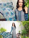photo of Designer Straight Cut Georgett Salwar Suit In Grey Color
