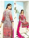 photo of Pakistani Style Digital Print Cotton Salwar Suit In Cream And Pink Color