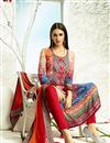 photo of Digital Print Pakistani Cotton Salwar Kameez In Orange Color