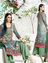 photo of Digital Print Pakistani Cotton Salwar Kameez In Mehendi Green Color