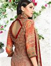 photo of Digital Print Pakistani Style Cotton Salwar Kameez In Orange Color