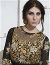 photo of Long Length Black And Beige Color Georgette Embroidered Anarkali Salwar Suit