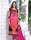 image of Pink Color Party Wear Salwar Kameez In Satin Fabric