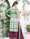 photo of Impressive Green Color Designer Party Wear Stright-Cut Palazzo Suit