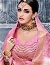 photo of Pink Wedding Function Wear Banarasi Silk Fancy Lehenga Choli