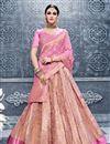 image of Pink Wedding Function Wear Banarasi Silk Fancy Lehenga Choli
