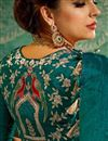 photo of Handloom Weaving Work Art Silk Traditional Fancy Saree In Dark Cyan