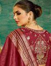 photo of Handloom Weaving Work Maroon Traditional Fancy Saree In Art Silk