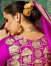 photo of Magenta Art Silk Handloom Weaving Work Designer Function Wear Saree