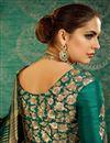 photo of Handloom Weaving Work Teal Art Silk Designer Fancy Saree