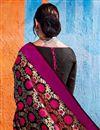 photo of Function Wear Fancy Black Art Silk Embellished Saree
