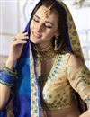 photo of Georgette Blue Embroidered Fancy Saree With Designer Blouse